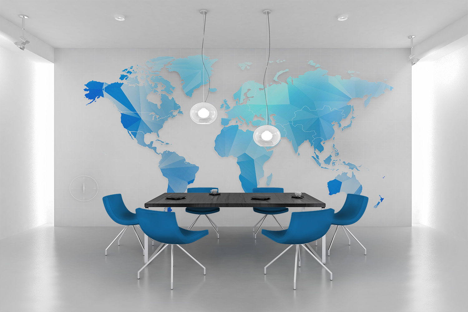 Buyers guide to custom wall murals and wall decals coastal creative a great wall mural idea of a world map gumiabroncs Gallery
