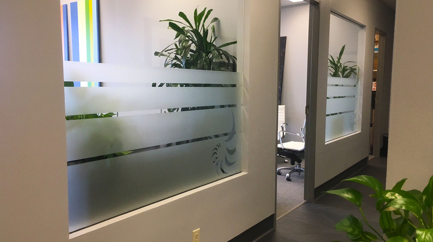 removable window stickers frosted glass