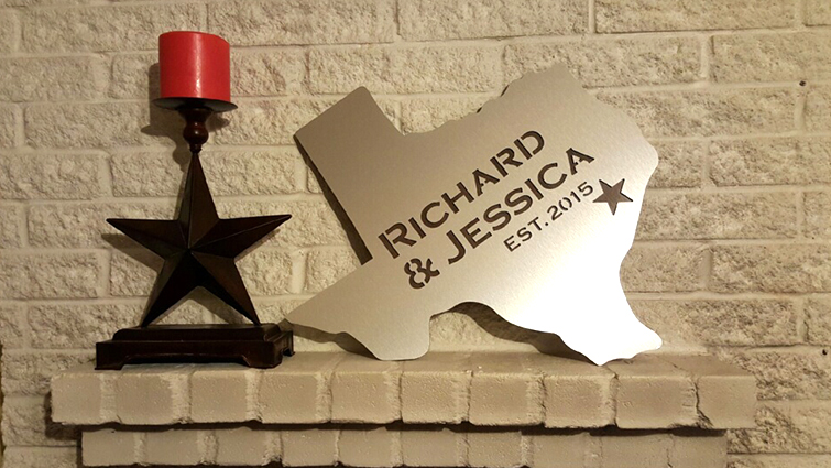 Custom Dibond Texas sign.