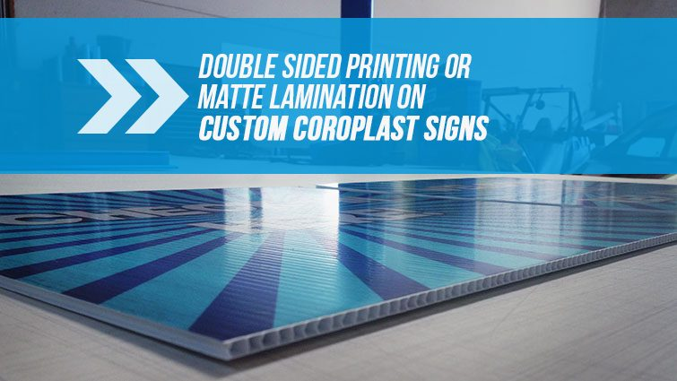 coroplast sign features