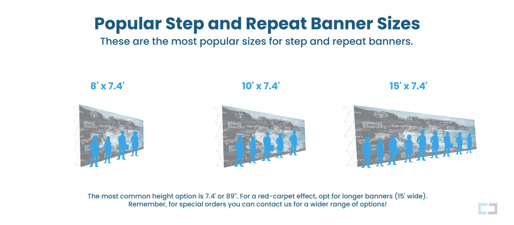 step and repeat banner sizes