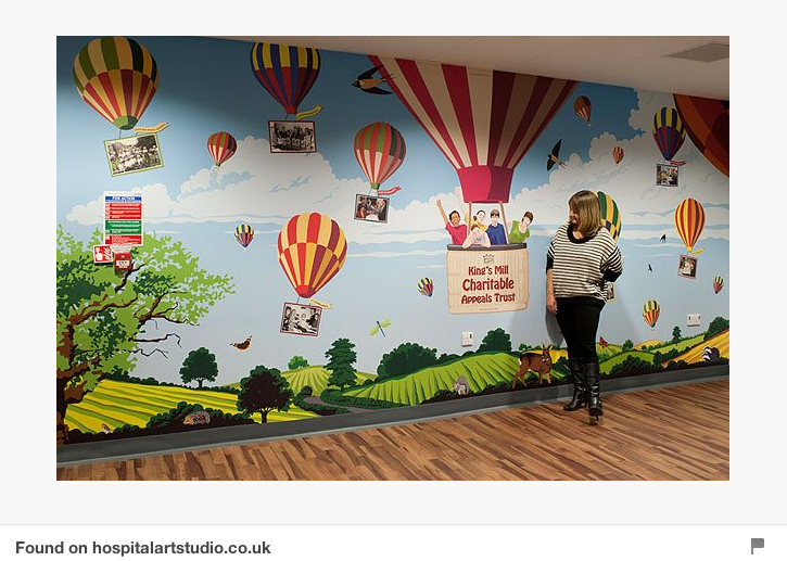 Hot Air Balloon Wall Mural