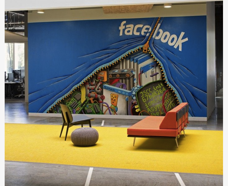 Facebook Office Wall Mural