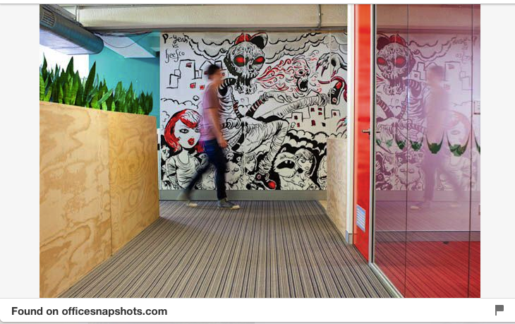 creative agency office. Office Wall Mural For Creative Agencies. Agency Office