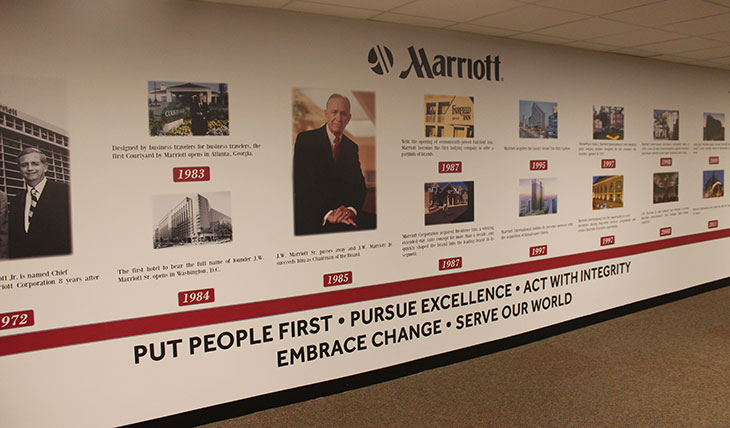Custom Marriott Hotel Wall mural