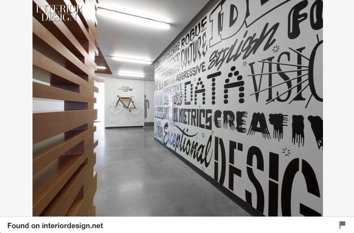Typographic Office Wall Mural