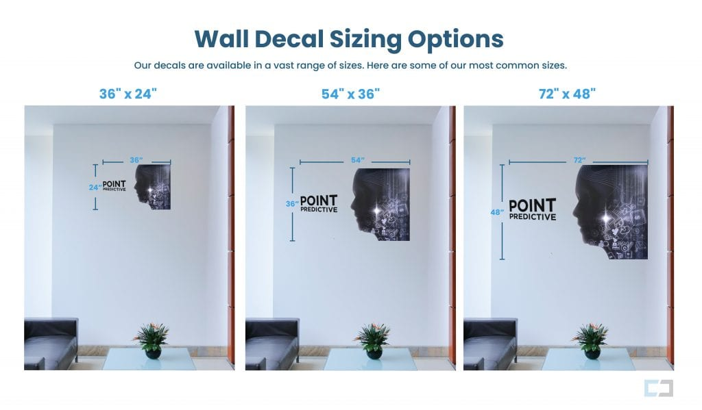 waqll decal sizing options