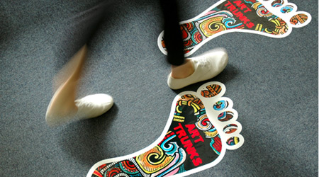 Awesome Footprint Floor Decals