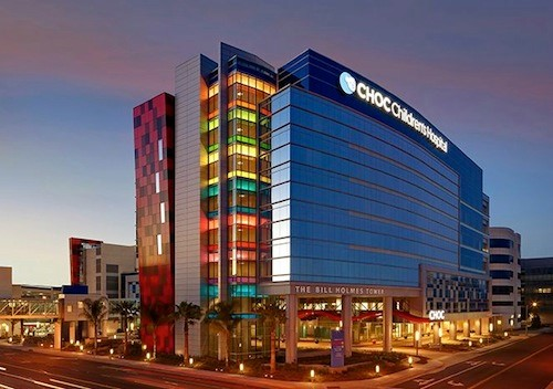 """The Children's Hospital of Orange County was built to showcase """"vibrant spirit, progressive vision and a world-class sense of place."""" In addition to state of the art medical technology, each level of the hospital includes a fun theme like fossils in the basement and outerspace on the top level. Source."""