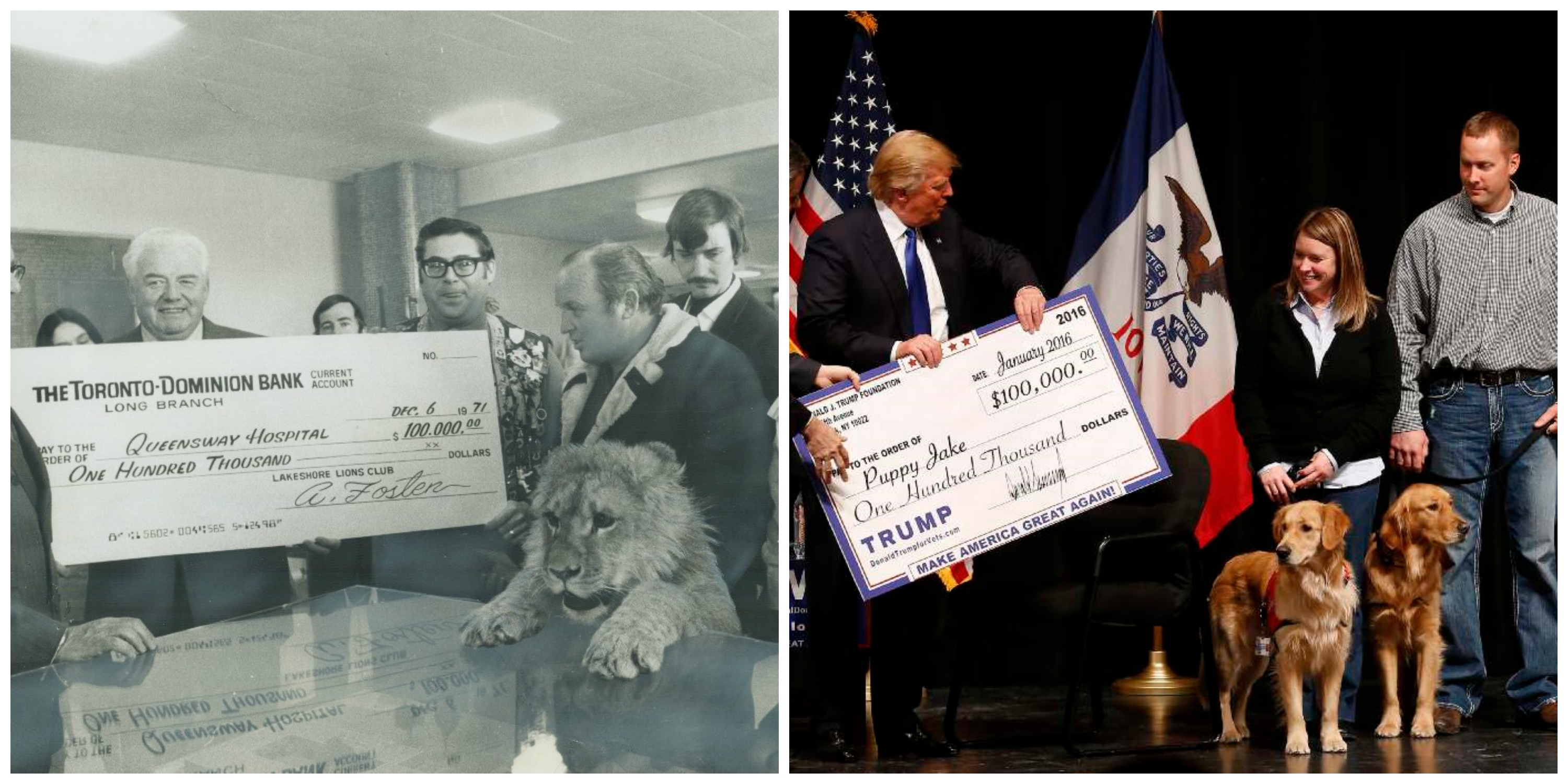 Oversized Checks Then and Now