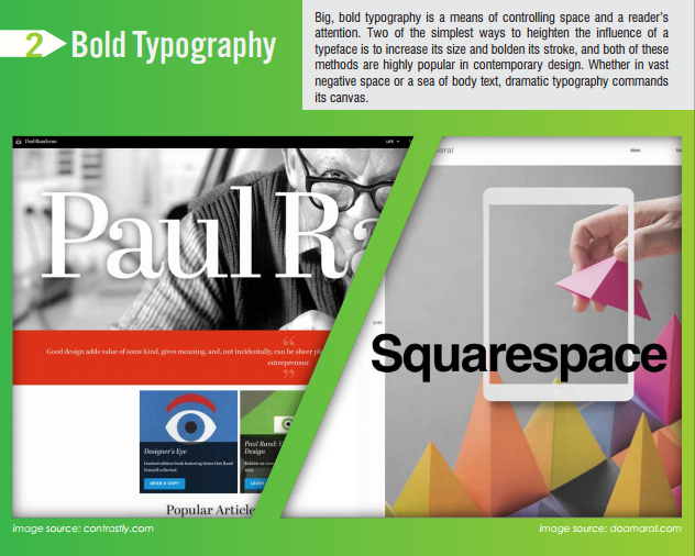 bold typography digital design