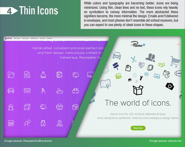 thin icons design trends