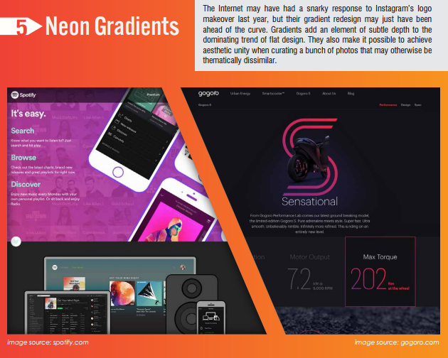 neon gradients design trend