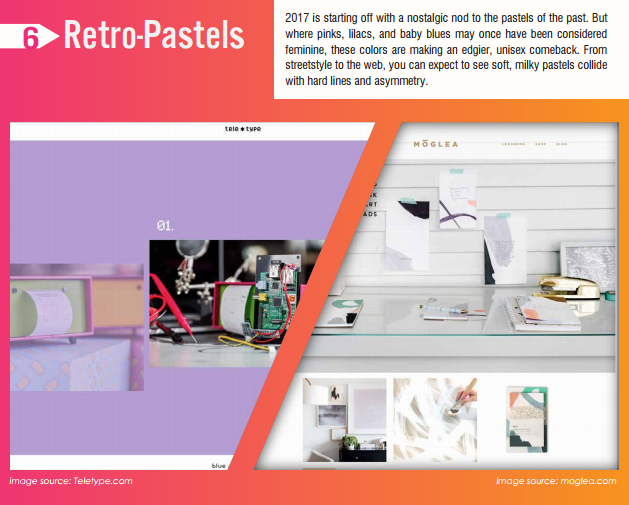 retro pastels design trends