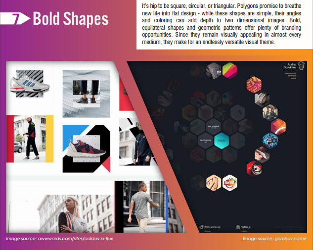 bold shapes design trends