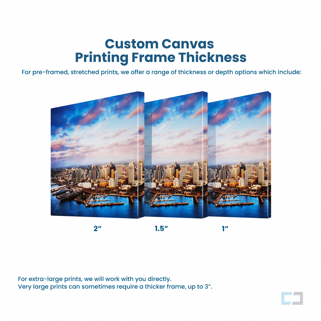 Custom Canvas Printing Frame Thickness