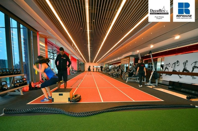 gym design trends flooring