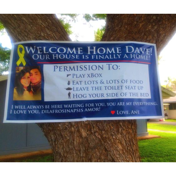 welcome home signs for soldiers