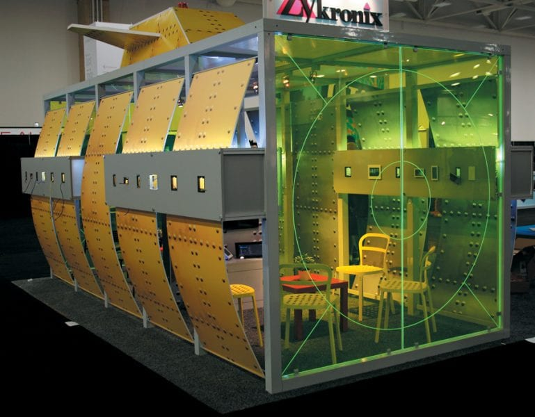 enclosed spaces trade show booths