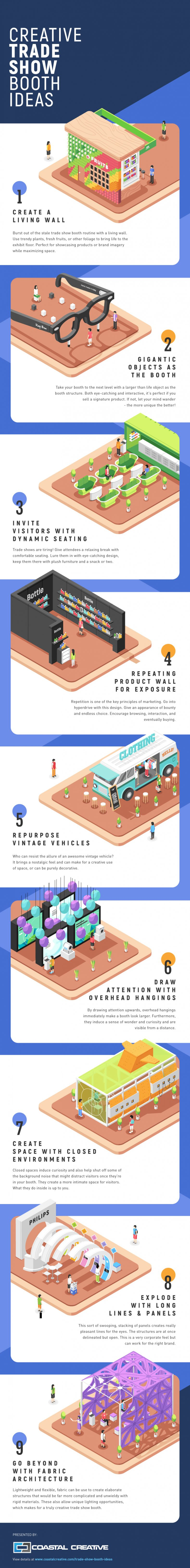 unique trade show booth and display ideas infographic