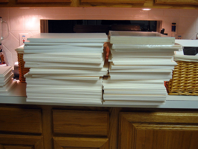 stacks of foam core
