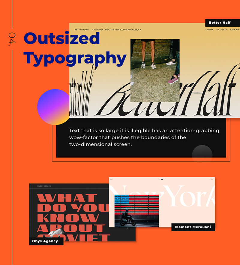 outsized typography design 2021